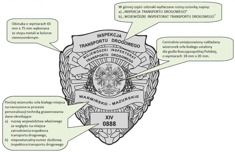 Okładka legitymacji Inspektora