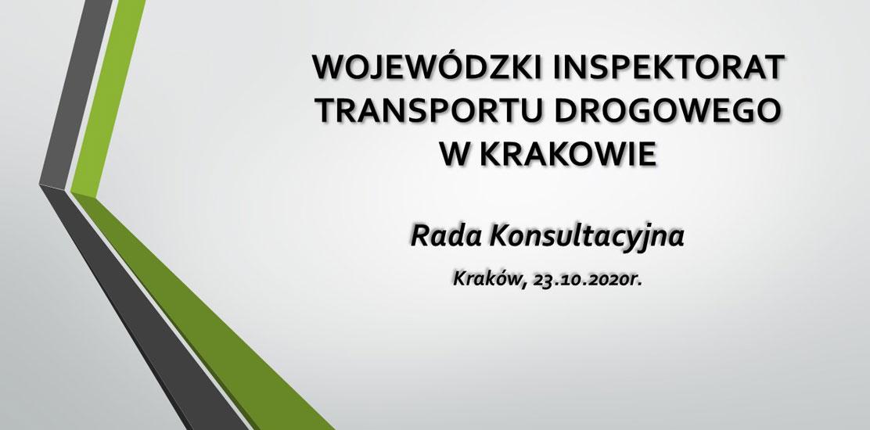 Rada konsultacyjna przy WITD Kraków.