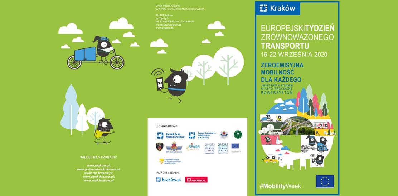 Plakat reklamowy: Europejski Tydzień Zrównoważonego Transportu.