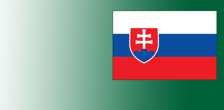 Flaga Słowacji.