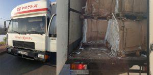 Kierowca nie okazał żadnego dokumentu potwierdzającego rodzaj transportowanych odpadów.