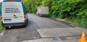 Przeładowany samochód dostawczy zatrzymany przez inspektorów ITD.