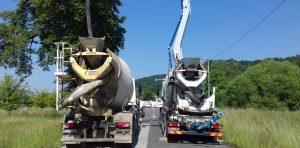 Przeciążone betoniarki zatrzymane przez inspektorów ITD.